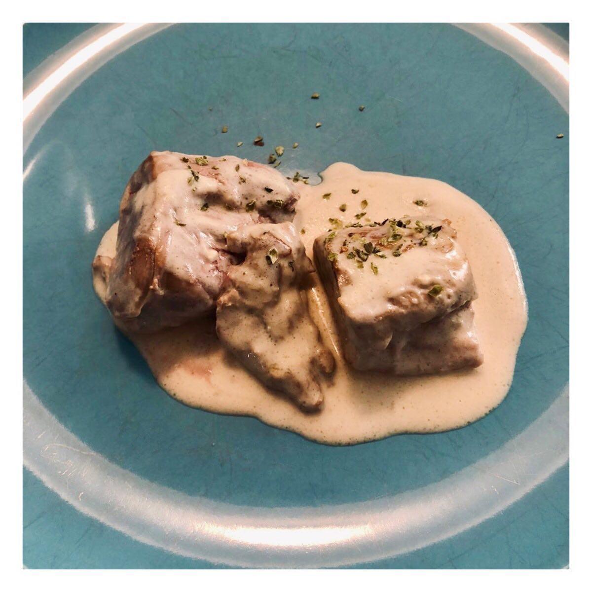 Solomillo en salsa de queso